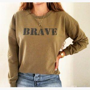 Zara Brave Olive Green Sweatshirt Jumper